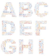 Alphabet Lorem ipsum