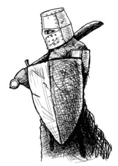 Templar with sword and shield