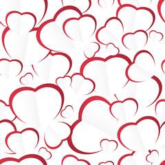 Heart ,  seamless pattern , vector illustration
