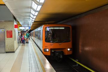 Metro stationin Brussels