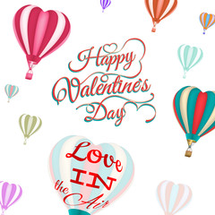 Heart-shaped hot air balloons. EPS 10