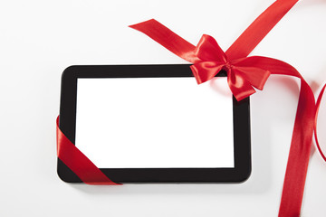 Tablet with ribbon