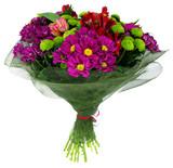 Fototapety Bouquet of flowers in green package