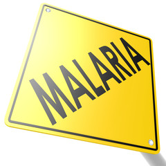 Road sign with malaria
