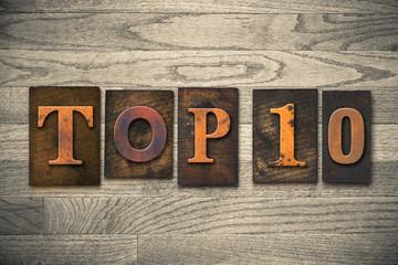 Top 10 Concept Wooden Letterpress Type