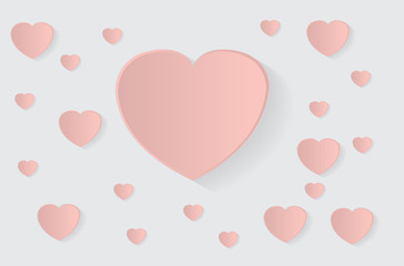 Hollow pink heart background with a big heart for text in it
