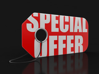 Label with special offer (clipping path included)