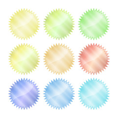 multicolored glossy vector stickers