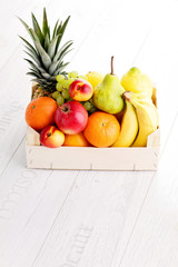 box of fresh fruits