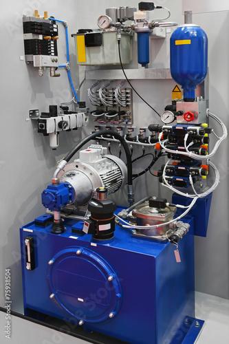 Leinwanddruck Bild Hydraulic pump