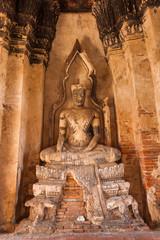 Skulptur an der Tempelruine Wat Chaiwatthanaram in Ayutthaya