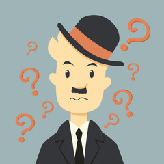 Businessman with Question mark symbol