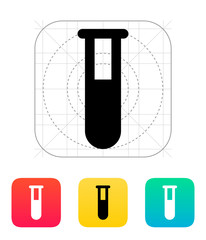 Full test tube icon. Vector illustration.