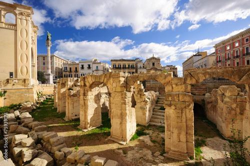 Foto op Canvas Mediterraans Europa Lecce Anfiteatro Romano