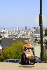 Fauteuil roulant à San Francisco
