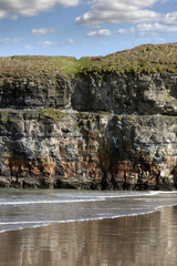 seat at the top of the cliffs in Ballybunion