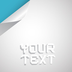 Paper Vector Layout - Template with Bent Corner