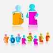 Постер, плакат: Be Yourself Vector Slogan Title