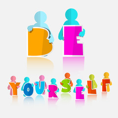 Be Yourself Vector Slogan - Title