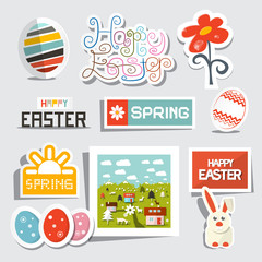 Vector Easter Isolated Symbols - Objects Set