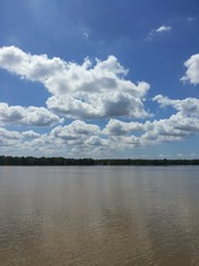 Beautiful clouds over the river