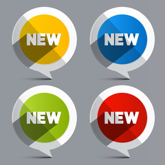 New Vector Circle Labels - Stickers