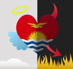 Kiribati angel and devil heart