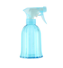 Spray bottle of blue.