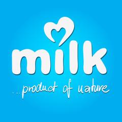 milk - vector logo