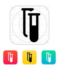 Test tubes icon. Vector illustration.