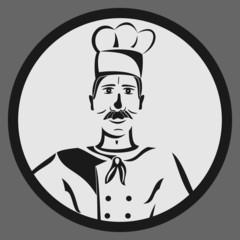 Sticker of restaurant chef