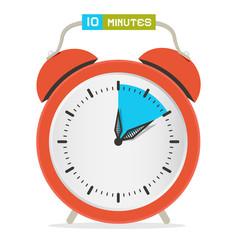 10 - Ten Minutes Stop Watch - Alarm Clock Vector Illustration