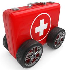 Notarzt Koffer mobil