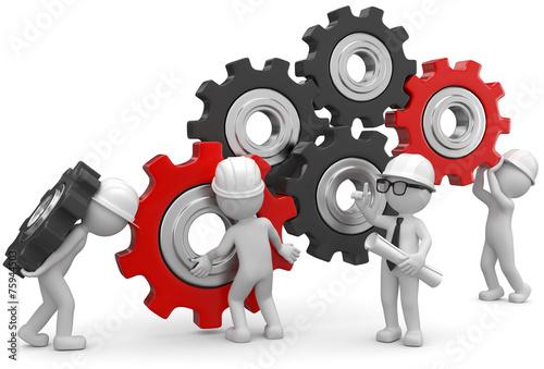 3d Männchen Konstruktion Getriebe - 75944503
