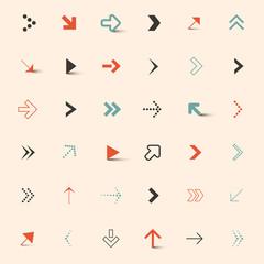 Simple Vector Arrows Set