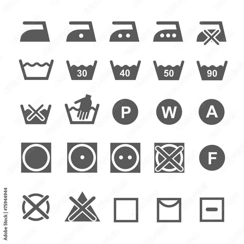 Washing symbols laundry icons wall sticker wall stickers washing symbols laundry icons wall sticker buycottarizona Gallery