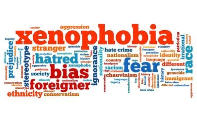 Xenophobia word cloud