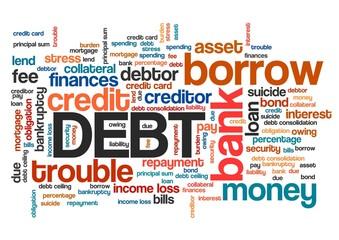 Debt word cloud