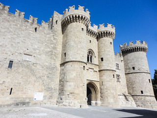 Medieval castle of Rhodes island in Greece