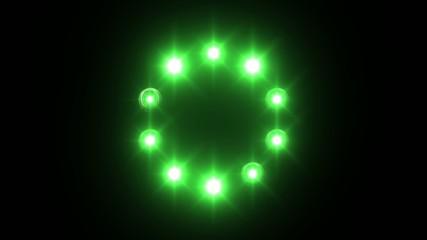 light loading wheel - 30fps flickering loop - green lights
