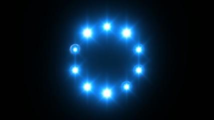 light loading wheel - 30fps flickering loop - blue lights