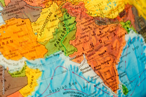 Poster map of India