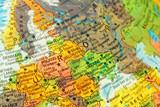 map detail globe eastern Europe poster