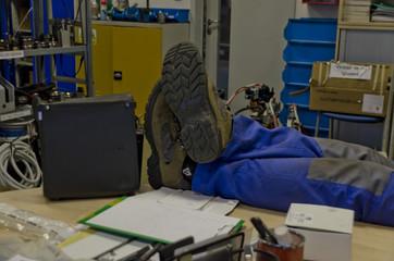 resting handyman