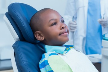 Boy waiting for a dental exam