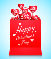 Valentines Day Shopping Concept