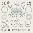set of more than 60 hand-sketched design elements - 75948144