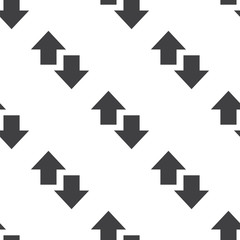 up and down arrow, vector seamless pattern