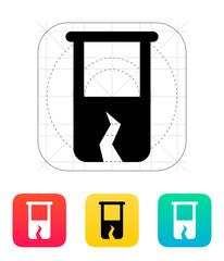 Broken test tube icon. Vector illustration.