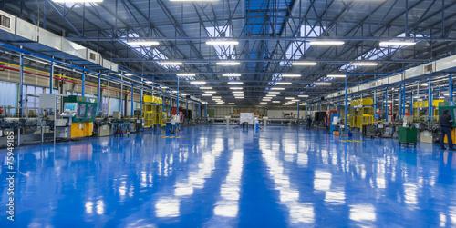 canvas print picture Stabilimento industriale, interno